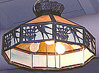 Hanging Slag Glass Light Fixture