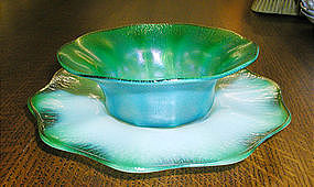 Tiffany Favrile Pastel Finger Bowl/Underplate
