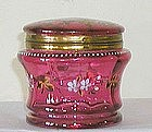 Cranberry Enamel Hinged Box
