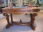 Renaissance Revival Library Table