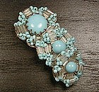 MIRIAM HASKELL BUGLE BEADS BROOCH