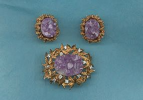 Panetta Brooch and Earrings