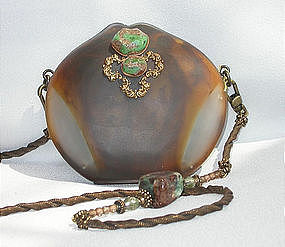 MAYA PURSE WITH TURQUOISE AND PEARLS :  pearls handbag contest1 maya