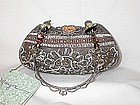MAYA BROWN LACE PURSE