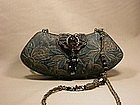 MAYA BLACK AND COPPER FLORAL PURSE