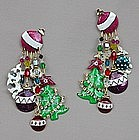 LUNCH AT THE RITZ CHRISTMAS EARRINGS
