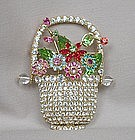 DOROTHY BAUER FLOWER BASKET BROOCH