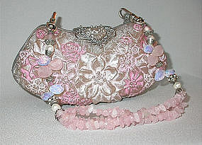 PINK FLORAL PURSE BY MAYA