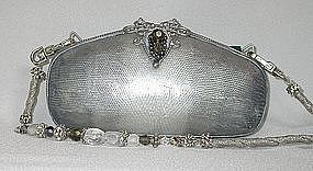MAYA PEARL AND SILVER LIZARD PURSE