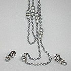 MIRIAM HASKELL GRAY PEARL SET
