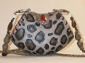 MAYA BROWN LEOPARD PURSE