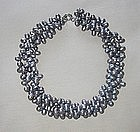 GENUINE PEARL THREE STRAND NECKLACE