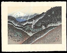 Hakone - Woodblock from Sekino's Tokaido Road