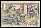 Genuine Eisen Woodblock - Chushingura Act II