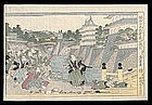 Genuine Eisen Woodblock - Chushingura Act IV
