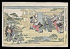 Genuine Eisen Woodblock - Chushingura Act VII
