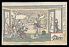 Genuine Eisen Woodblock - Chushingura Act IX