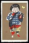 Rare Kiyoshi Saito Woodblock - Child of Aizu