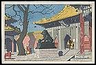 Elizabeth Keith Woodblock - Lama Temple