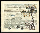 Yamagishi Japanese Woodblock - Lake Towada