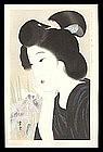 Shin Hanga Beauty Woodblock - June Irises