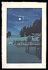 Early Edition Hasui Woodblock – Akebi Bridge
