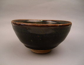 A Good Jian Ware Black Glaze Hare's Fur Tea Bowl