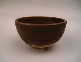 An Early Ware Black Glaze Cup Found On Celebes