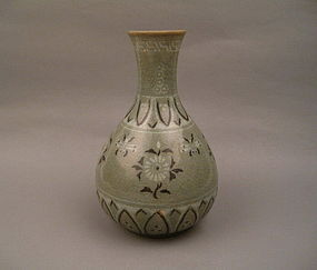 A Rare Koryo Celadon With Inlaid Black & White