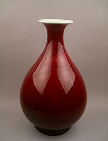 A Finely Copper-Red Monochrome Late Qing Yuhuchun
