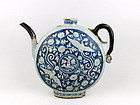 An Extremely Rare Yuan Dynasty Moon Flask Ewer