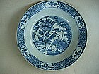 Blue & White Dish (Late Ming Swatow)