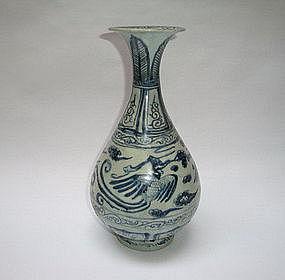 A Yuan Dynasty B/W Yuhuchun With Phoenix
