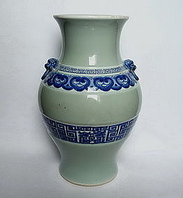 A RARE HU SHAPED VASE (QIANLONG SEAL MARK)