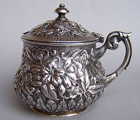 19th Century Baltimore Sterling Silver Mustard Pot
