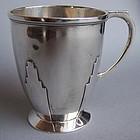 English Art Deco Sterling Silver Skyscraper Cup