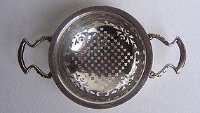 Birmingham Silver Tea Strainer, 1919