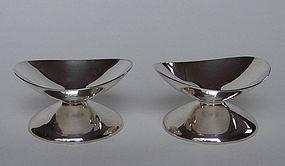 Pair of Danish Modern Sterling Candleholders
