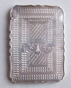American 19th Century Coin Silver Calling Card Case