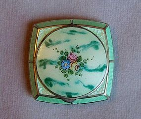 Vintage Enamel Compact for Face Powder