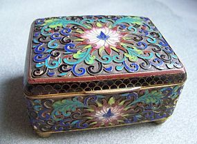 19th Century Chinese Open Cloisonne Box