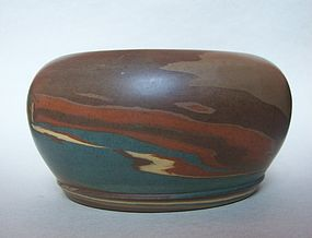 Niloak Mission Ware Ceramic Bowl, Signed