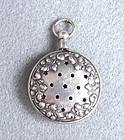 Unusual Sterling Silver Vinaigrette Pendant