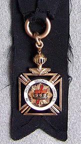 Victorian Masonic Knights Templar Gold Watch Fob
