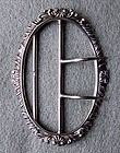 English Sterling Silver Belt Buckle, Birmingham, 1901