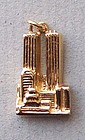 14K Gold Charm of the World Trade Center Twin Towers