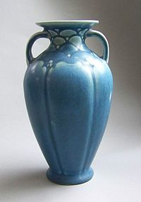 Rookwood Handled Vase, mold 2675, dated 1923