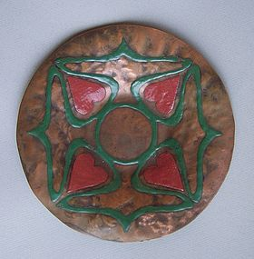 The Art Crafts Shop Heintz Copper and Enamel Dish