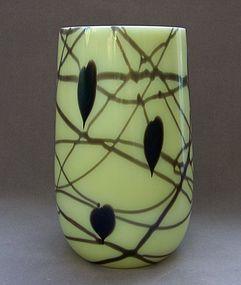 Fenton Art Glass Vase, Robert Barber Design, 1976