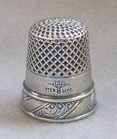 Sterling Silver Thimble, Webster Company, circa 1925